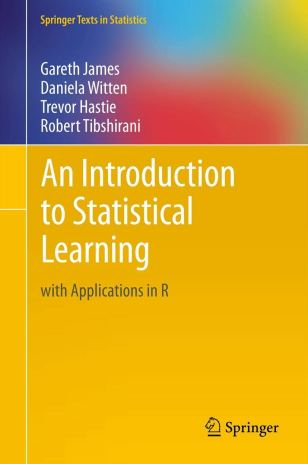 Amazon.fr - An Introduction to Statistical Learning: With Applications in R  - James, Gareth, Witten, Daniela, Hastie, Trevor, Tibshirani, Robert -  Livre de data science