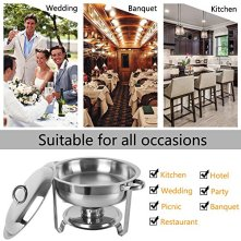 ROSVUN-5-Qt-2468-Packed-Full-Size-Upgraded-Stainless-Steel-Chafing-Dish-Buffet-Silver-Round-Catering-Warmer-Set-with-Food-and-Water-Trays-Mirror-Cover-Thick-Stand-Frame-for-Kitchen-Party-Banquet