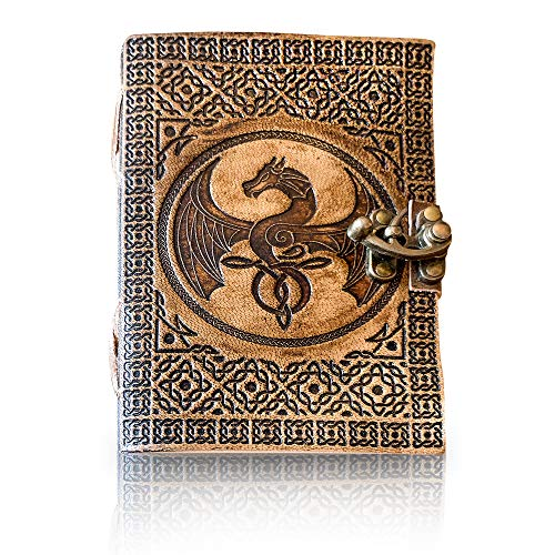 Dreamkeeper Journals Leather Journal Handmade Embossed Notepad