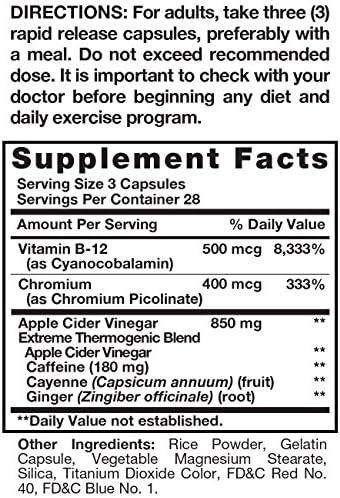 AppleLeanTM Cider Vinegar Diet Complex Supplement, 124 Count 2