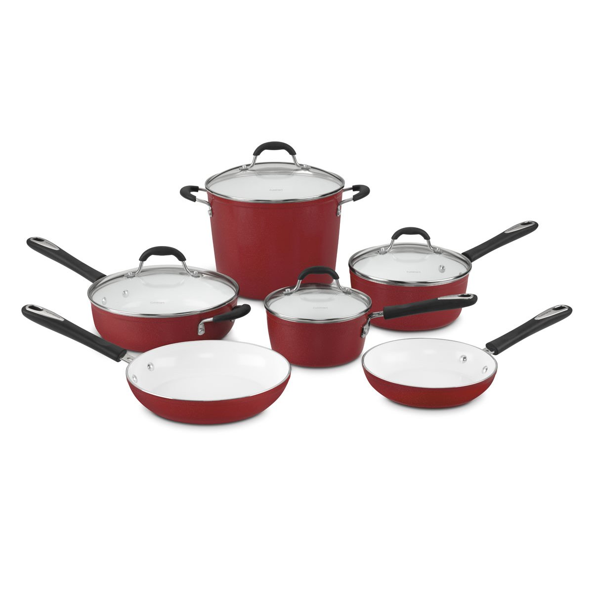 Colorful Forged Aluminum Cookware Set in Ceramic Non Stick ... |Colorful Ceramic Cookware