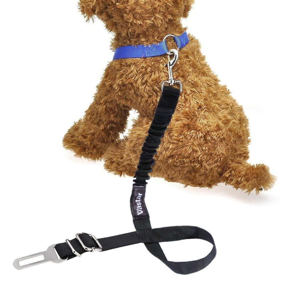 Vastar Dog Seat Belt Harness 2 Packs Pet Dog Seat Belt