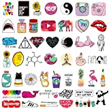 Teen Girl Laptop Stickers Cute Cartoon Water Bottles Phone Car Skateboard Computer Bike Vinyl Decals 45pcs