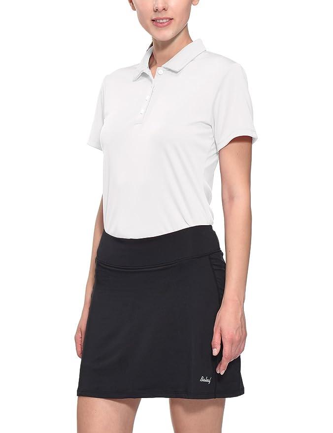 Baleaf Women's Golf Tennis Polo T-Shirts Quick Dry UPF 50+ White Size S