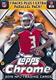 2015 Topps Chrome NFL Football EXCLUSIVE Factory Sealed Retail Box with SPECIAL 4 Card REFRACTOR Bonus Pack! Look for Rookies & Autographs of Jameis Winston, Marcus Mariota & all Top 2015 Draft Picks!