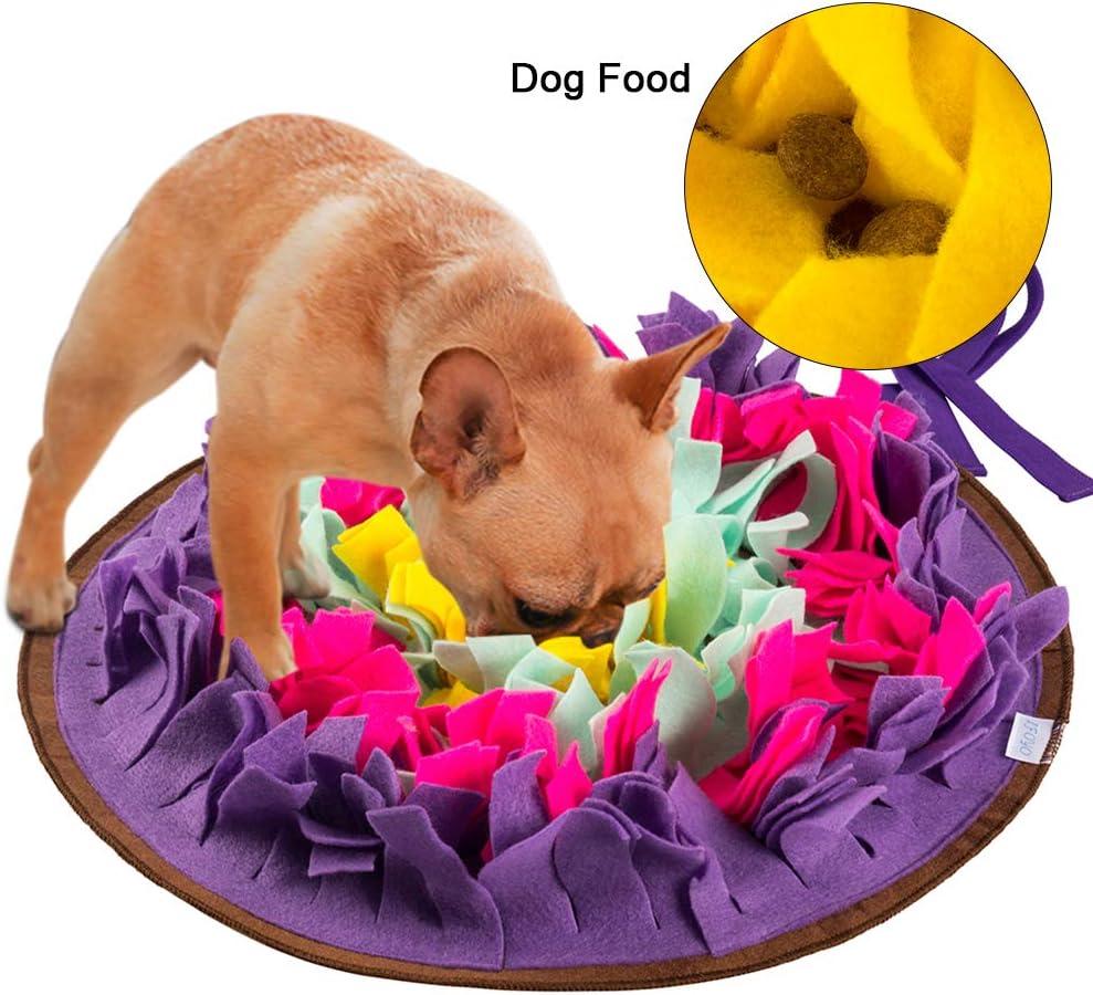 FREESOO Alfombrilla para perros, alimentación de mascotas, entrenamiento de cachorros y juguetes de rompecabezas Púrpura