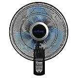 Hurricane 736565 Fan, Super 8 Oscillating 16 Inch Wall, Black