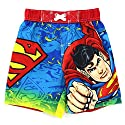 Superman Toddler Red Swim Trunks Swimwear
