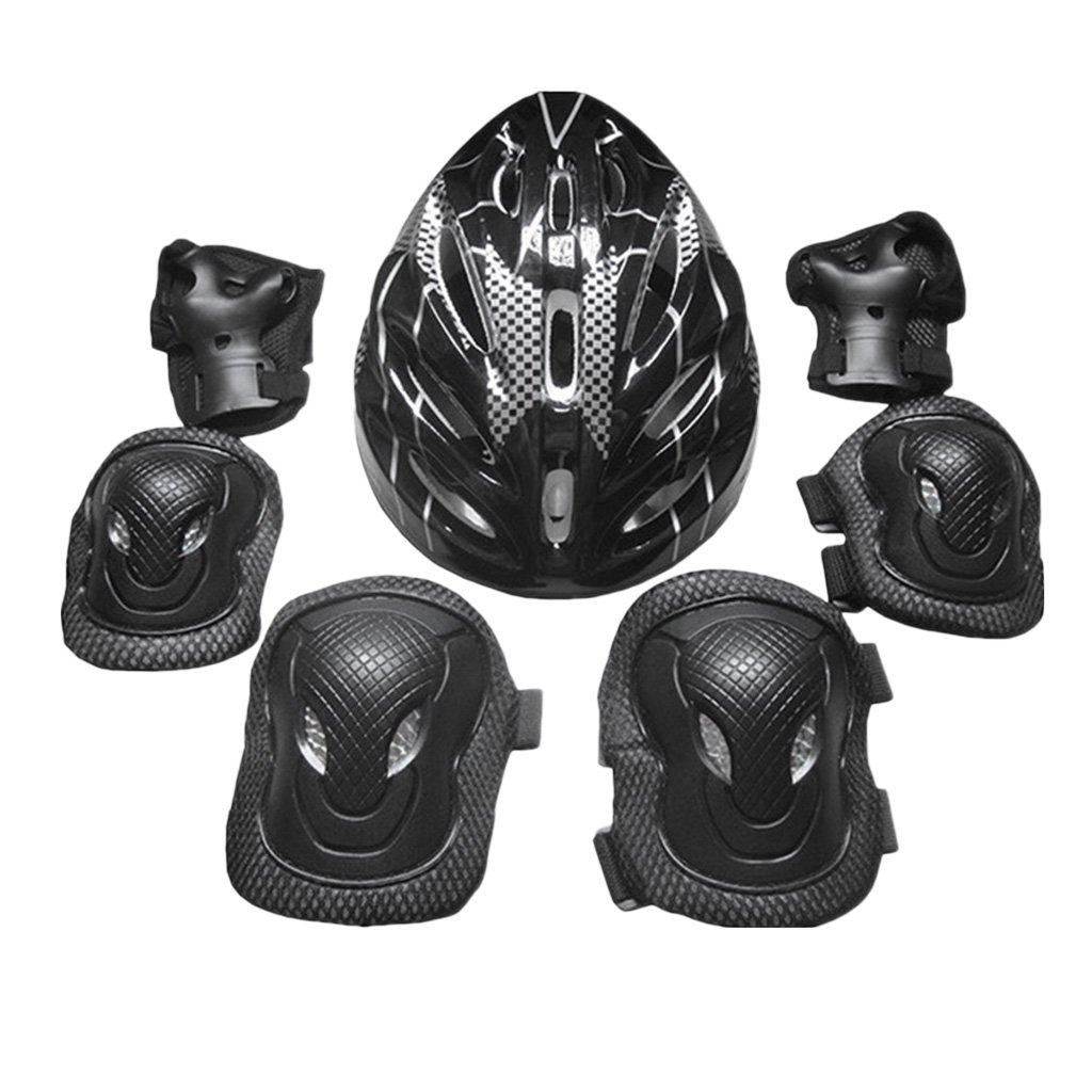 a15ba41d7 FLAMEER Kit De Protección para Adultos Monopatín Casco Rodillera Cojín De  Palma Conjunto Cómodo Protector De Seguridad Equipo para Patinaje