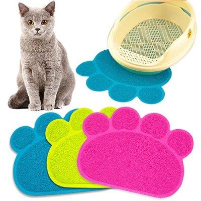 Cat Litter Mat Box Toilet Pad Puppy Kitty Dish Dinner Feeding...