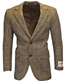 Product review for Walker & Hawkes - Mens Classic Scottish Harris Tweed Overcheck Country Blazer Jacket - Desert Tan - 38-48