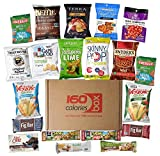 Kosher Healthy Snacks Care Package Box Under 160 Calories | Sweet & Nutritious Bars, Nuts, Potato Chips, Veggie Straws & Others | For School, Adults, Work, Parties & Diet (Kosher)