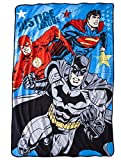 "Justice League Micro Raschel Blanket - 62"" X 90"""