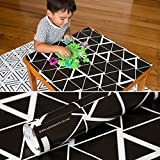 Mess Mats - Black & Copper Design,Large splat mat, splash mat,, Baby, Feeding, Solid feeding, High Chair, Reversible, High Chair Floor Protector, Waterproof, Baby shower gifts, Top-rated