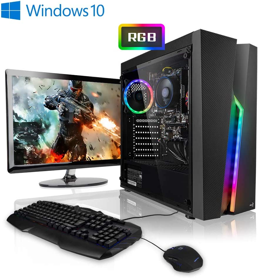 "Megaport Super Méga Pack Nightstorm - 4-Core AMD Ryzen 3 3200G 4X 3,60 GHz • Ecran LED 24"" • Clavier et Souris • AMD Vega 8 • 120 Go SSD • 8Go DDR4 • Windows 10 Home • 1To"