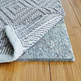 RUGPADUSA, 8' x 10', 1/3' Thick, Basics 100% Felt Rug Pad, Safe for All Floors and Finishes, Made in the USA