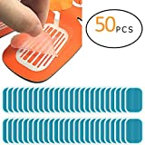 PAMASE 50 Pcs/25 Packs Abs Stimulator Training Replacement Gel Sheet Pads for Abdominal Muscle Trainer, Accessory for Ab Workout Toning Belt