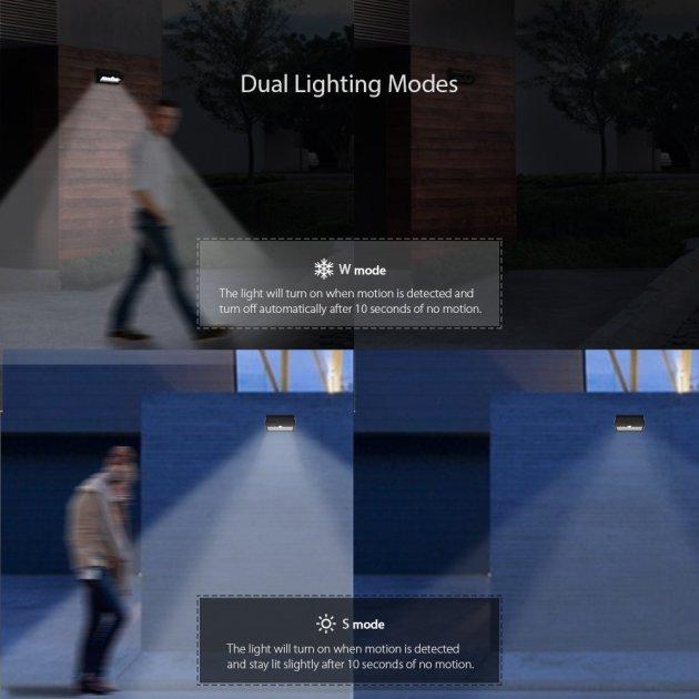 dodocool 26 LED ソーラーライト 520ルーメン壁灯 バッテリーフリー 防水 人感センサーと光センサー 自動点灯消灯 屋外照明/軒先/壁掛け/庭先などのライト ブラック
