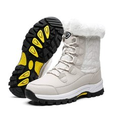 Own Shoe Women's Winter Snow Boots Outdoor Warm Fur Lined Mid Calf Waterproof Shoes for Women