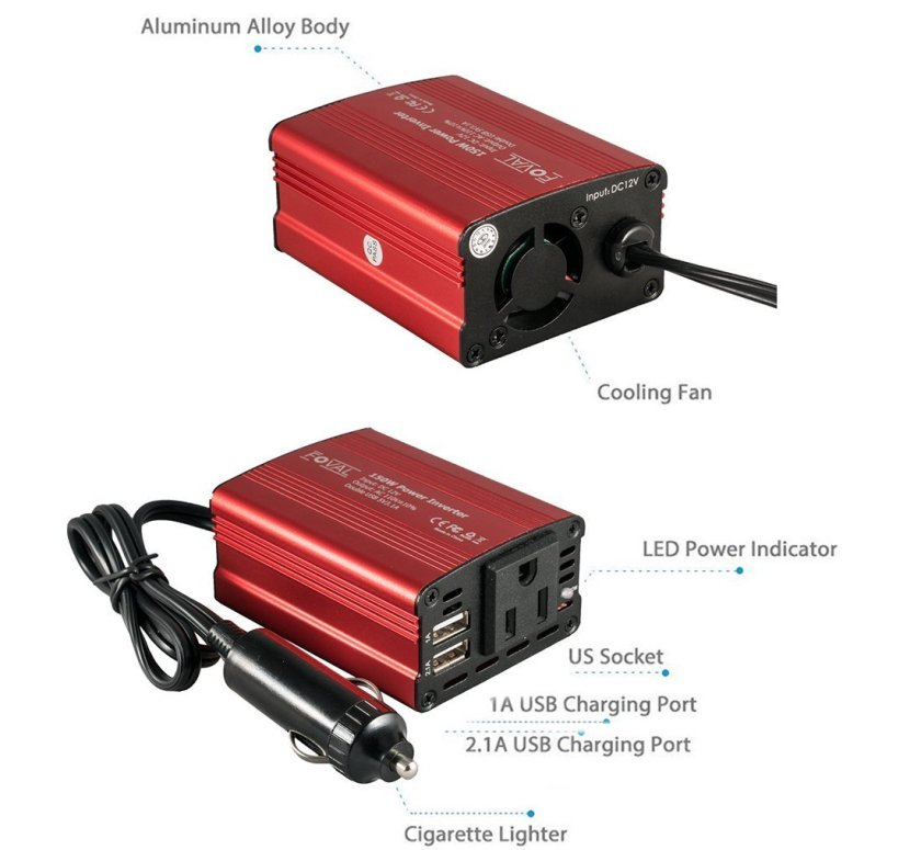 Foval 150W Car Power Inverter