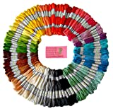 Premium Rainbow Color Embroidery Floss – Cross Stitch Threads – Friendship Bracelets Floss – Crafts Floss – 105 Skeins Per Pack and Free Set of Embroidery Needles