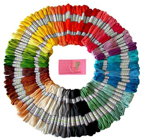 Premium Rainbow Color Embroidery Floss - Cross Stitch Threads - Friendship Bracelets Floss - Crafts Floss