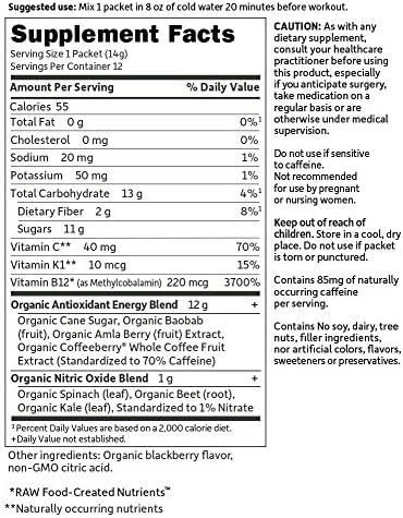Garden of Life Sport Organic Pre Workout Energy Plus Focus Vegan Energy Powder, BlackBerry, 12 Count 8