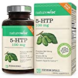 NatureWise 5-HTP 100mg 4-Month Supply | Natural Mood & Sleep Support | Curbs Appetite to Support Weight Loss | Enhanced with Vitamin B6 | Non-GMO, Gluten Free, Vegetarian, 120ct (Packaging May Vary)