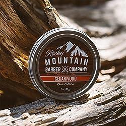 Beard Balm - Rocky Mountain Barber - 100% Natural - Premium Wax Blend with Cedarwood Scent, Nutrient Rich Bees Wax, Jojoba, Tea Tree, Coconut Oil  Image 2