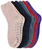Burklett Adult Men's Thick Warm Indoor Anti-skid Winter Slipper Socks 6 Pairs