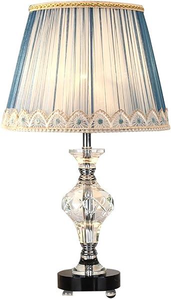 Toym Uk European Luxury Transparent Crystal Table Lamps Marriage Wedding Room Bedroom Bedside Lamp Color Light Blue Amazon Co Uk Lighting