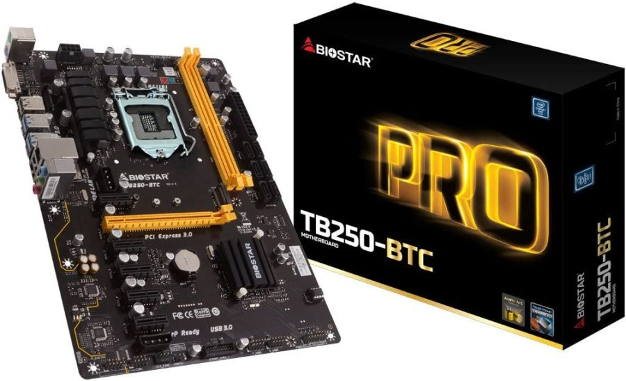 Amazon.com: Biostar 198118 Motherboard Tb250-btc Core I7/i5/i3 Lga1151 B250  Ddr4 Sata Pci Express Usb Atx Retail: Computers & Accessories