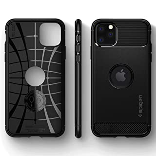 【Spigen】 iPhone 11 Pro ケース 5.8インチ 対応 TPU 米軍MIL規格取得 耐衝撃 衝撃吸収 傷防止 カメラ保護 Qi充電 ワイヤレス充電 ラギッド・アーマー 077CS27231 (マット・ブラック)
