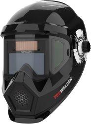 YESWELDER Anti Fog Up True Color Solar Powered Auto Darkening Welding Helmet
