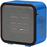 AmazonBasics 500-Watt Ceramic Small Space Personal Mini Heater - Blue