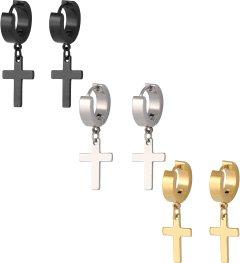 Image result for cross earrings men