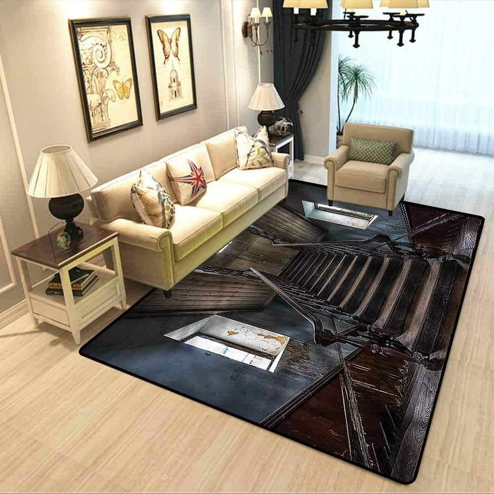 Amazon Com Scary Carpet Rugs For Living Room Horror Movie Theme | Carpet For Bedrooms And Stairs | Modern Staircase | Staircase Remodel | Dark Grey Carpet | Stair Railing | Stair Treads