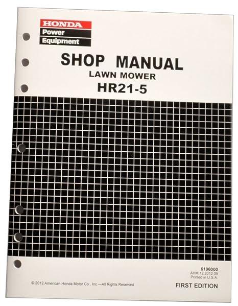 Honda Hr21 5 Hr215 Lawn Mower Service Repair Manual