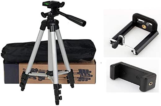 Ionix Imported Tripod for Mobile Phone and Camera, Foldable Tripod for Camera, DSLR and Smartphones with Mobile Attachment,Tripod for Mobile Phone,Mobile Tripod Stand for Video Recording