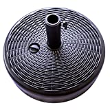 C-Hopetree Patio Market Outdoor Umbrella Base Stand Sand Water Filled 70lb Round Black