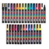 Uni Posca Paint Marker FULL RANGE Bundle Set , Mitsubishi Poster Colour ALL COLOR Marking Pen Medium Point ( PC-5M ) 29 Colours ( 22 Standard & 7 Natural ) Japan Import