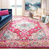 Safavieh Monaco Collection MNC243D Vintage Oriental Bohemian Pink and Multi Distressed Area Rug (8' x 10')
