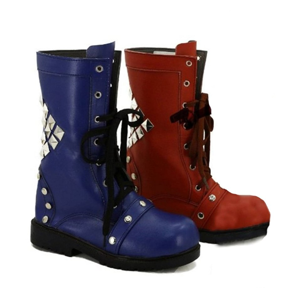 Dreamy House Arkham Knight Game Harley Quinn Cosplay Shoes Boots