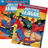 DC Comics Justice League Coloring and Activity Book Bundle with 2 Books Featuring Batman, Superman, Wonder Woman, Green Lantern, The Flash, Aquaman, and Cyborg