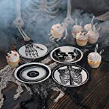 Fun Express Vintage Halloween Mini Ceramic Plates - 4 Pieces