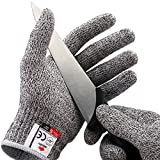 NoCry Cut Resistant Gloves - High Performance Level 5 Protection, Food Grade. Size Medium, Free Ebook Included!