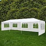 Uenjoy 10'x30' Canopy Party Wedding Tent Event Tent Outdoor Gazebo White 5 Sidewalls
