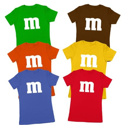 M Chocolate Candy Halloween Costume Outfit Funny Group