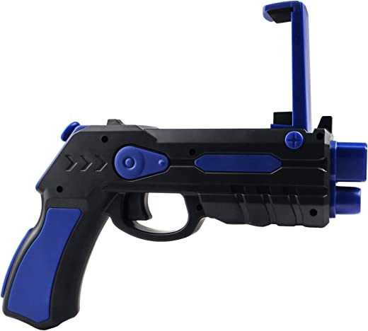 hoox Plastic Bluetooth AR Gun Toy with 18 Games for Mobile iOS Apple Android Smart Phone VR Video Game Augmented Controller and Lots of Apps