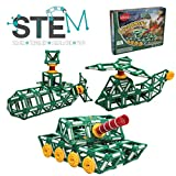 Klikko Toys Tanks Model Building Set - 225 pieces - Ages 7+ Engineering Education Toy Chirstmas Gift for Boys and Girls with Activities to Learn STEM Concept